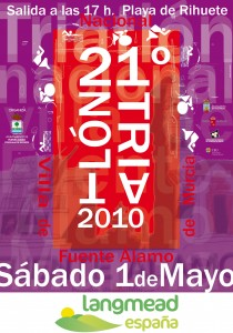 TRIATLON 2010. Cartel